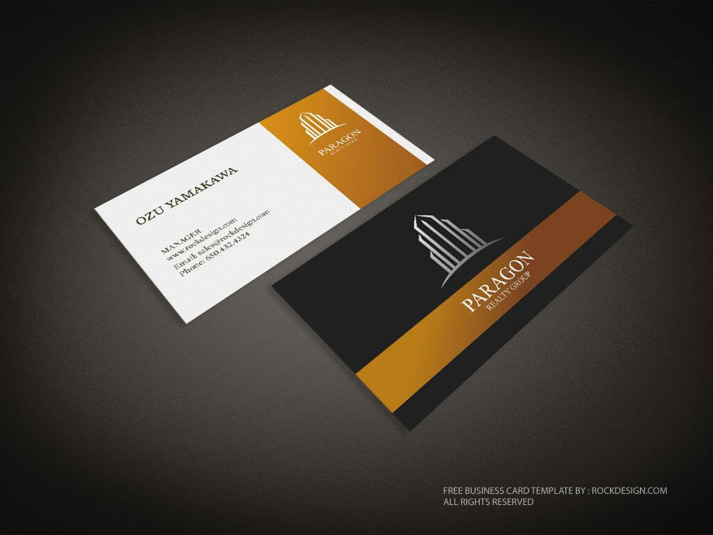 Real Estate Business Card Template | Download Free Design Regarding Free Complimentary Card Templates