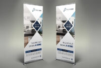 Real Estate Roll-Up Banner #photoshop#psd#information with regard to Retractable Banner Design Templates