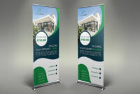 Real Estate Roll Up Banners #inches#files#psd#size | Real throughout Retractable Banner Design Templates