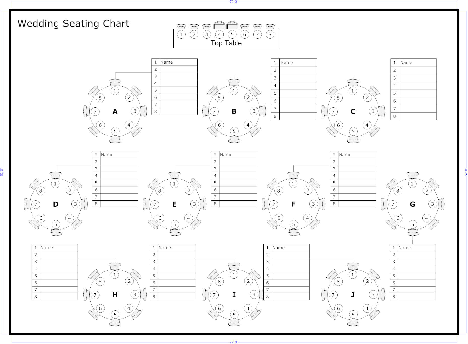 Reception Seating Charts 101   Seating Chart Wedding With Wedding Seating Chart Template Word