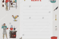 Recipe Card Cookbook Page Design Template Stock Image throughout Restaurant Recipe Card Template