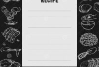 Recipe Card. Cookbook Page. Design Template With Hands with regard to Recipe Card Design Template