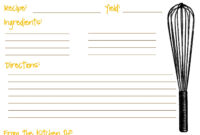 Recipe Card Template 3X5 |  And Then You Can Size It To A pertaining to Word Template For 3X5 Index Cards