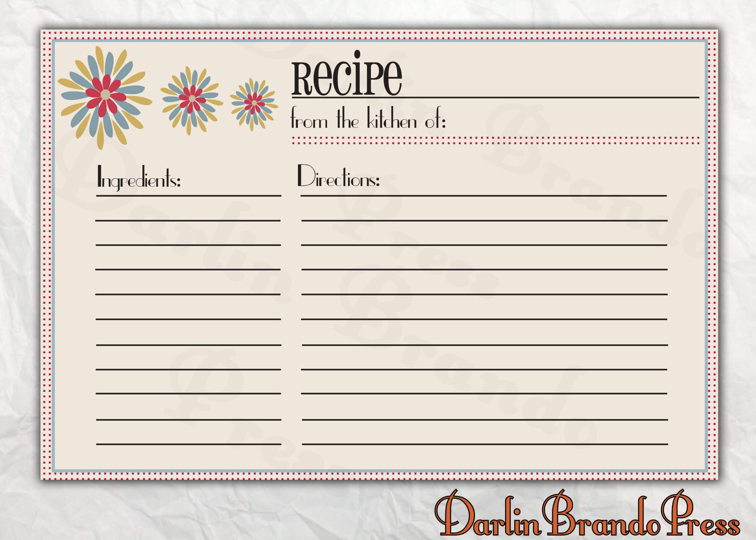 Recipes Card Templates Word | Recipe Template For Word Within Microsoft Word Recipe Card Template