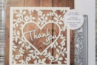 Recollections Thank You Card Confetti 1 Cutting Die Template 542692 pertaining to Recollections Card Template