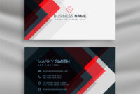 Red And Black Creative Business Card Template with Web Design Business Cards Templates