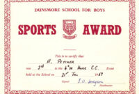 Red-Award-Sports-Certificates-Word-Pdf in Athletic Certificate Template