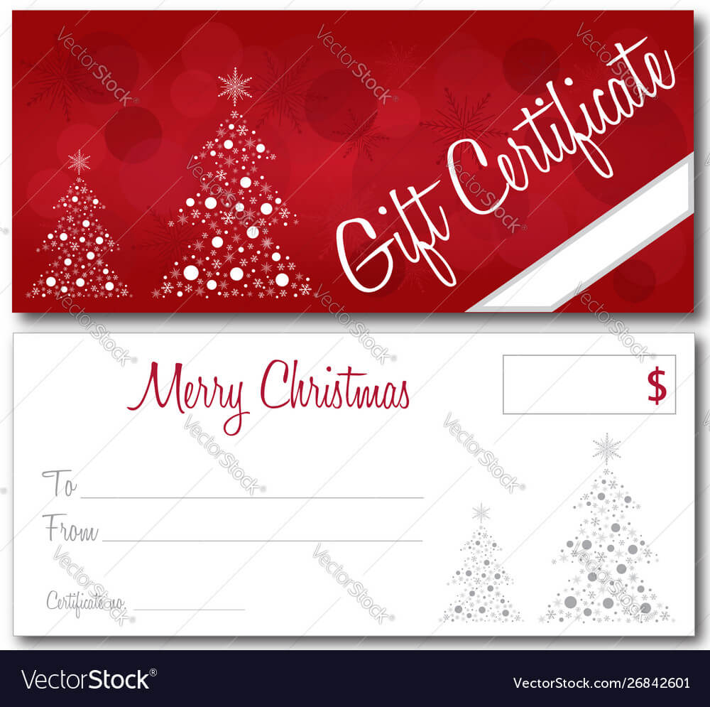 Red Christmas Gift Certificate Throughout Merry Christmas Gift Certificate Templates