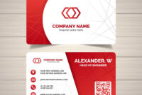 Red Corporate Business Card Templates | Free Customize inside Company Business Cards Templates