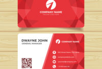 Red Geometric Business Card Template pertaining to Call Card Templates