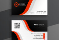 Red Modern Business Card Design Template throughout Modern Business Card Design Templates