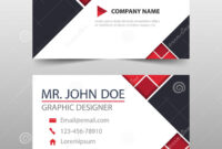 Red Triangle Corporate Business Card, Name Card Template For Buisness Card Template