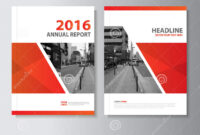 Red Vector Annual Report Magazine Leaflet Brochure Flyer with Engineering Brochure Templates Free Download