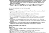 Regulatory Compliance Manager Resume Samples | Velvet Jobs for Compliance Monitoring Report Template