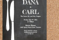 Rehearsal Dinner Invitation – Chalkboard Chic – Diy Word in Free Dinner Invitation Templates For Word