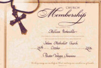 Religious Certificate Template Free throughout Christian Certificate Template