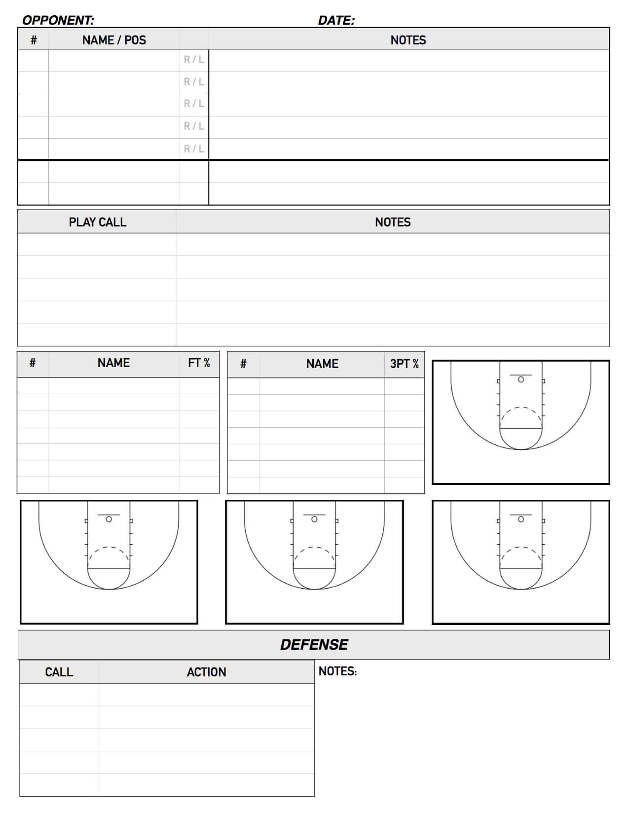 Report Examples College Basketball Scouting Template Team Regarding Basketball Scouting Report Template
