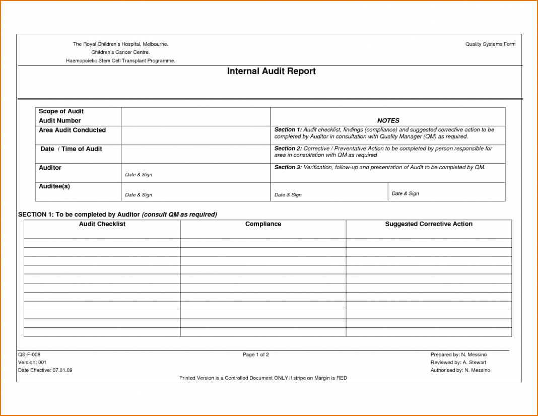 Report Examples Internal It Sample Iso External Pdf India Regarding Internal Audit Report Template Iso 9001
