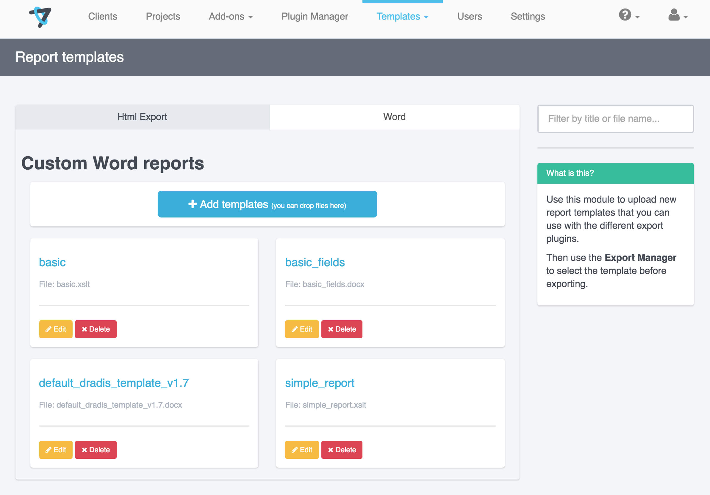 Report Templates | Dradis Pro Help Intended For Reporting Website Templates