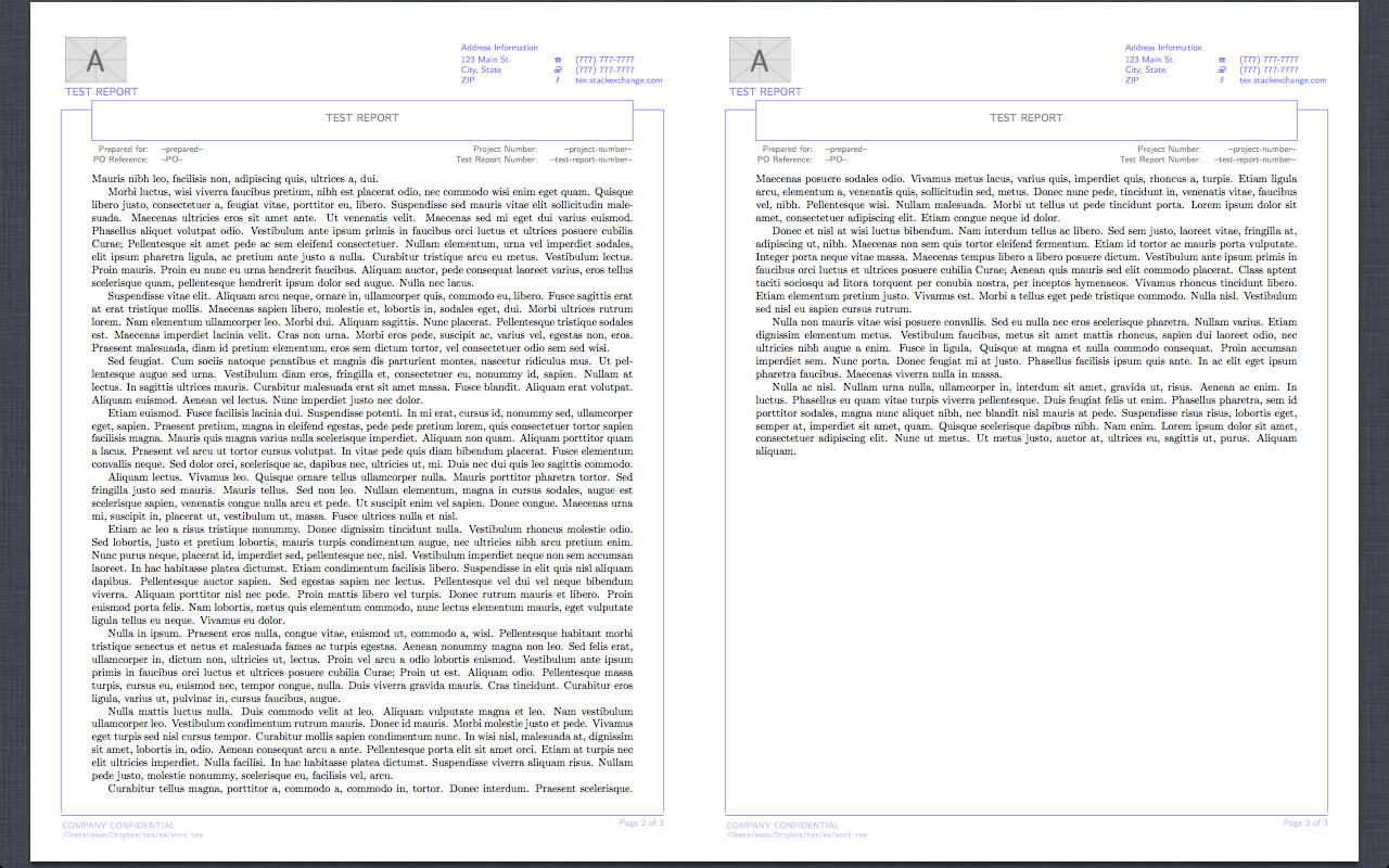 Reproduction Of Word Report Template In Latex - Tex - Latex Throughout Latex Template For Report