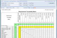 Requirements Traceability Matrix Report | Project Management pertaining to Report Requirements Template