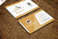 Restaurant Chef Business Card Template Free Psd with Name Card Design Template Psd