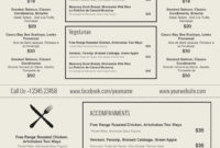 Restaurant Menu Template Word Fresh Design & Templates Menu throughout Free Cafe Menu Templates For Word