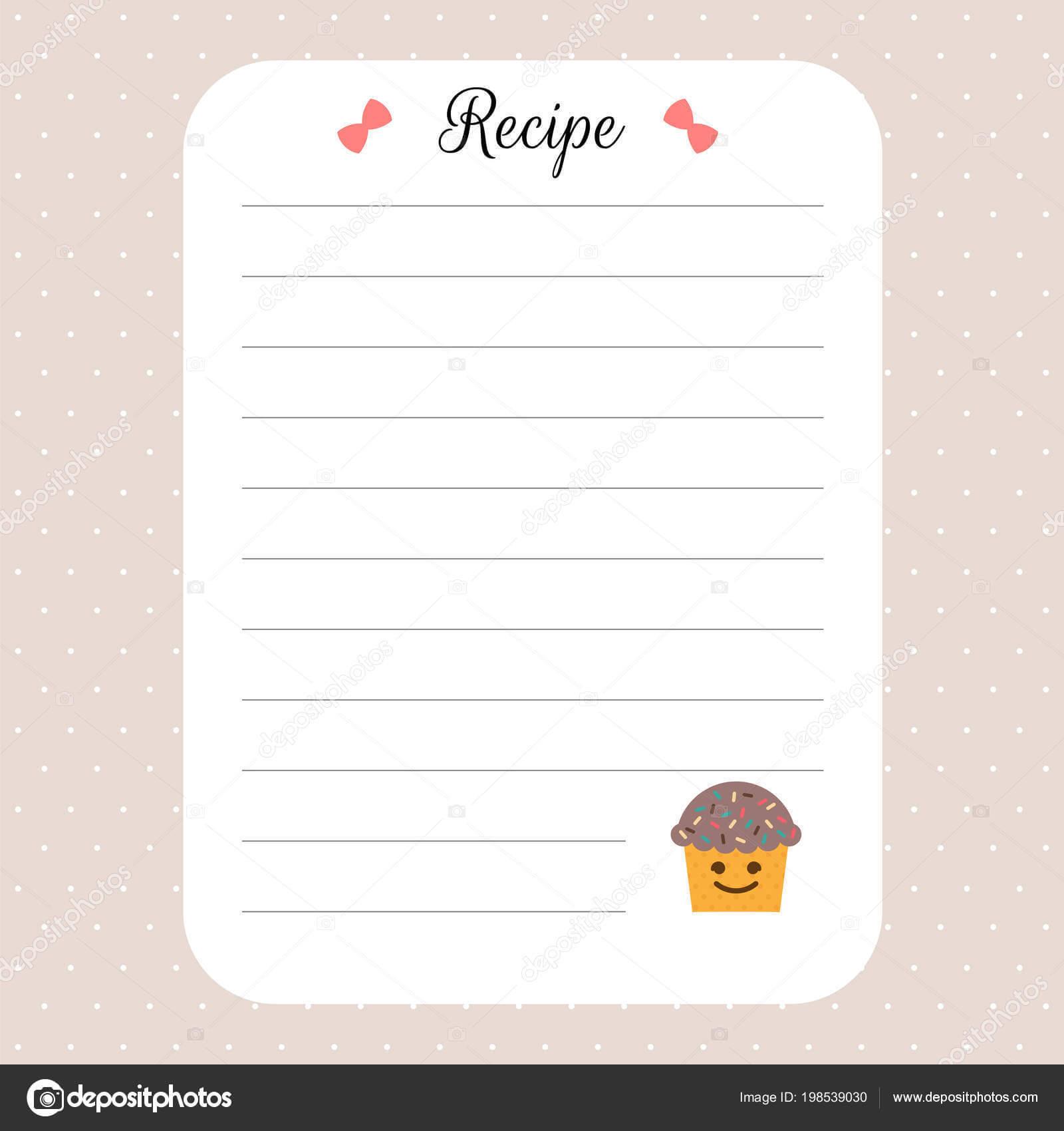 Restaurant Recipe Book Template | Recipe Card Template Throughout Restaurant Recipe Card Template