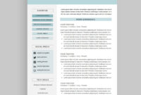 Resume / Cv Template Package For Microsoft™ Word | 'the Wesley' for How To Make A Cv Template On Microsoft Word