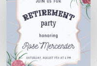 Retirement Party Invitation Design Template Rose Gold in Retirement Card Template