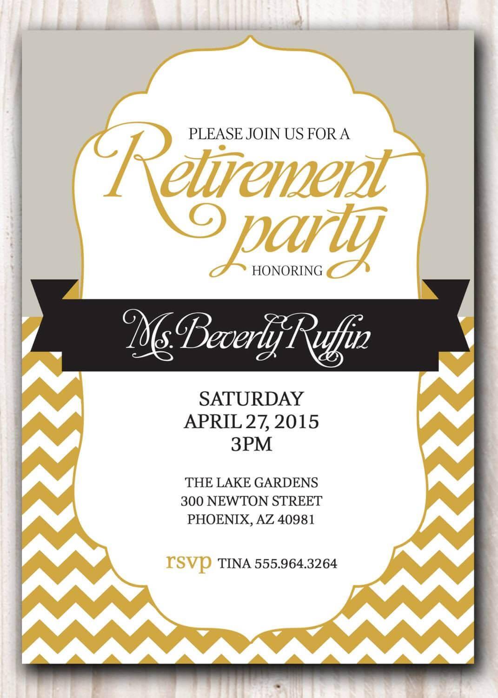 Retirement Party Invitation Template Microsoft | Retirement For Retirement Card Template