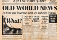 Retro Newspaper Template – Forza.mbiconsultingltd inside Old Newspaper Template Word Free