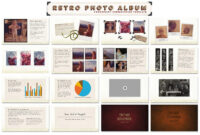 Retro Photo Album Ppt Template #ppt#dots#vintage#pictures Inside Powerpoint Photo Album Template