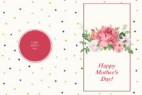 Retro Roses Mother's Day Card with regard to Mothers Day Card Templates