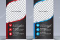 Roll Banner Design Template Vertical Abstract Background for Retractable Banner Design Templates