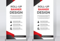 Roll Up Banner Design Print Template inside Pop Up Banner Design Template