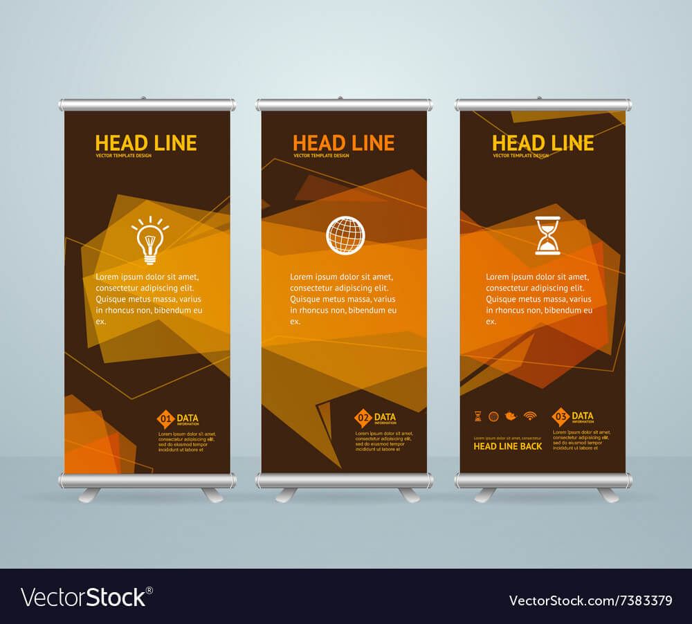 Roll Up Banner Stand Design Template With Banner Stand Design Templates