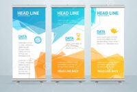 Roll Up Banner Stand Design. Vector Stock Vector intended for Pop Up Banner Design Template