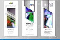 Roll Up Banner Stands, Flat Design Templates, Abstract Style inside Banner Stand Design Templates