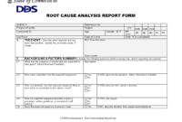 Root Cause Report Form | Templates At Allbusinesstemplates intended for Deviation Report Template