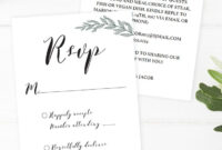 Rustic Wedding Rsvp Cards Wedding Response Cards Wedding with regard to Template For Rsvp Cards For Wedding