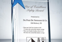 Safety Star Award Plaque & Sample Wording Ideas | Award with regard to Safety Recognition Certificate Template