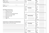 Sales Call Report Template – 3 Free Templates In Pdf, Word regarding Sales Call Report Template Free