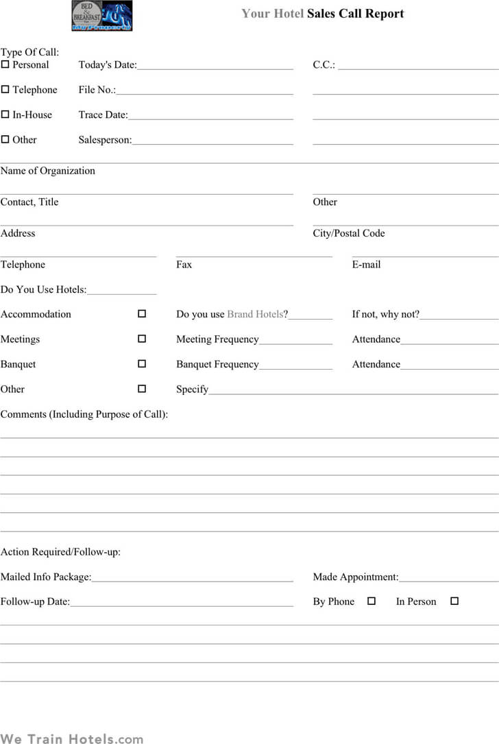Sales Call Report Template Microsoft Word – Ironi In Sales Call Report Template Free