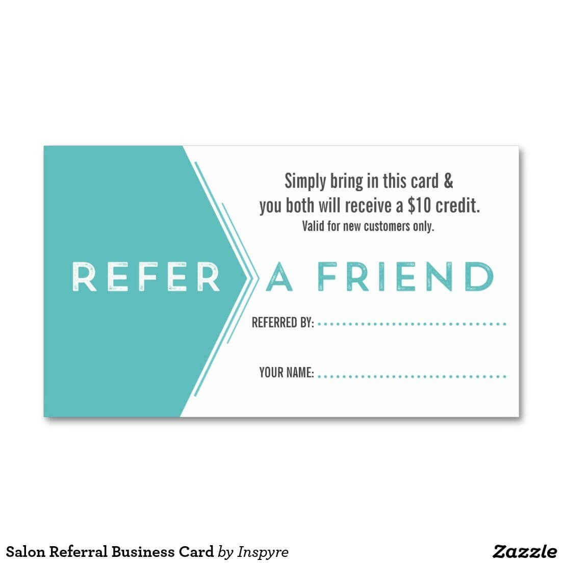 Salon Referral Business Card   Zazzle   Salon Business With Referral Card Template Free