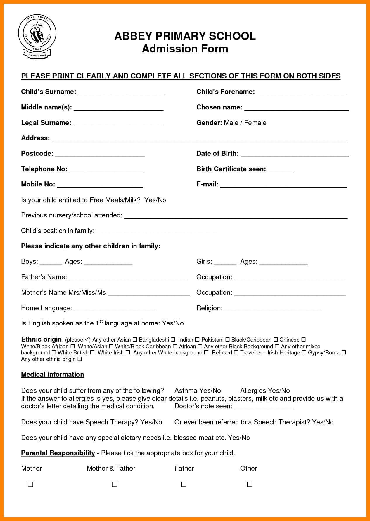 Sample Application For School Certificate New 11 School For School Leaving Certificate Template