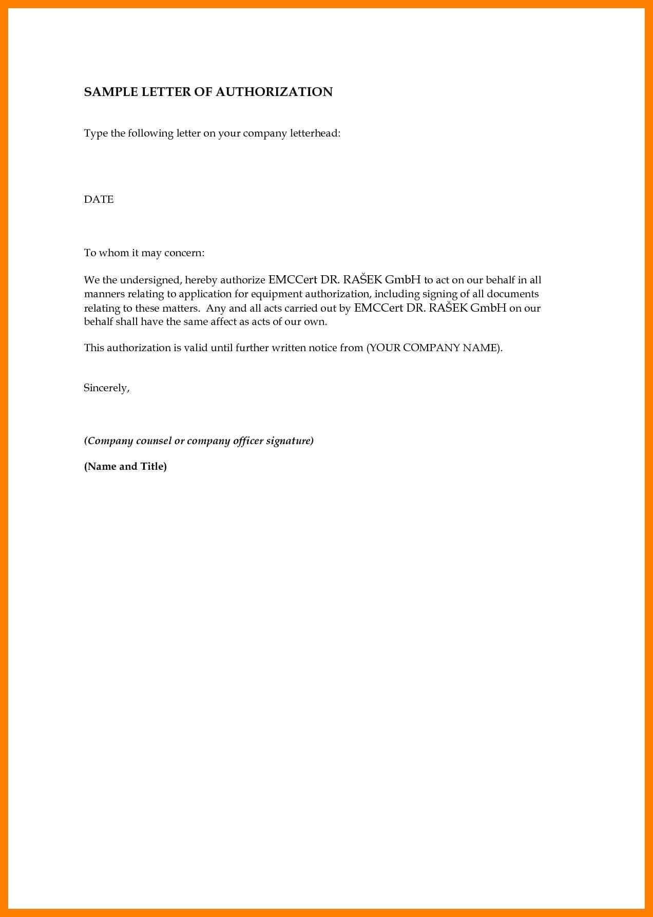 Sample Authorization Letter Birth Certificate Nso Fresh In Certificate Of Authorization Template