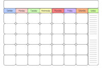 Sample Calendars To Print | Printable Calendar Template intended for Blank Activity Calendar Template