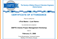 Sample Certificate Of Attendance Template – Forza throughout Perfect Attendance Certificate Free Template