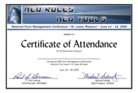 Sample Certificate Of Attendance Template – Forza with regard to International Conference Certificate Templates